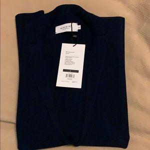 Ministry of Supply navy 3D print knit blazer
